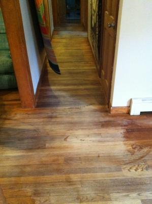 Look for chemical refinishing products at local home stores or from a hardwood flooring company. Or call as at 978 365 3348 visit us at ...